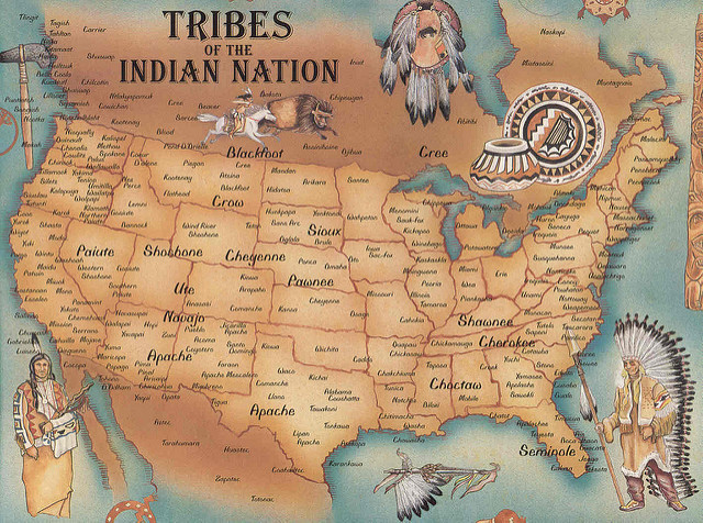 Indian Tribes map